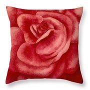 Garden Rose Throw Pillow