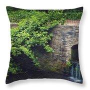 Garden Scene Throw Pillow by Svetlana Sewell