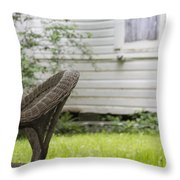 Garden Seat Throw Pillow