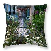 Garden Sentry Throw Pillow