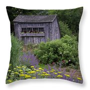 Garden Shed Throw Pillow