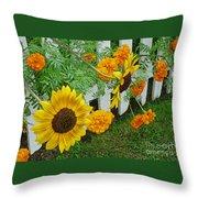 Garden Show-offs Throw Pillow