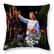 Garden Sparks Throw Pillow