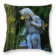 Garden Statuary Throw Pillow
