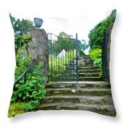 Garden Steps Throw Pillow