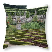 Garden Symmetry Chateau Villandry  Throw Pillow