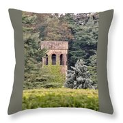 Garden Tower At Longwood Gardens - Delaware Throw Pillow