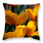 Garden Tulips Throw Pillow