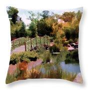 Japanese Gardens - Garden View Series 05 Throw Pillow