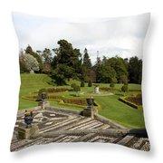 Garden View - Powerscourt Garden Throw Pillow