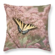 Garden Visitor - Tiger Swallowtail Throw Pillow