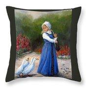 Garden Visitors Throw Pillow