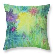 Garden Vortex Throw Pillow