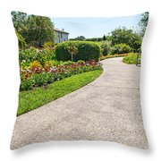 Garden Walkway Throw Pillow