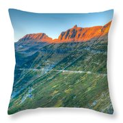 Garden Wall Sunset Throw Pillow