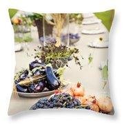 Garden Wedding Table Throw Pillow