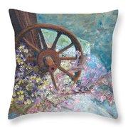 Garden Wheel Throw Pillow