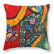 Gardener Throw Pillow by Chaline Ouellet