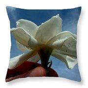 Gardenia For You My Dear Throw Pillow