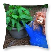 Gardening Joy Throw Pillow