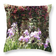 Gardens At Caesars Throw Pillow