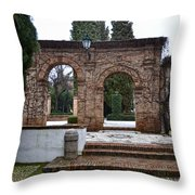 Gardens At The Cordova's Palace Throw Pillow