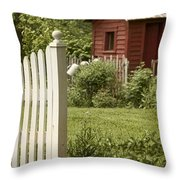 Garden's Entrance Throw Pillow by Margie Hurwich