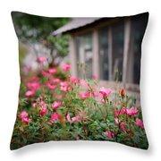 Gardens Of Pink Throw Pillow