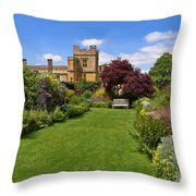 Gardens Of Sudeley Castle In The Cotswolds Throw Pillow
