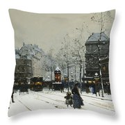 Gare Du Nord Paris Throw Pillow