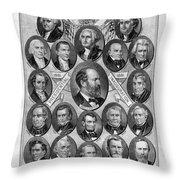Garfield Memorial, 1881 Throw Pillow