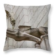 Gargoyle Cathedral Tours Throw Pillow