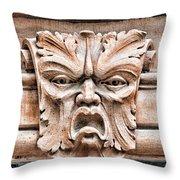Gargoyle Head Helsingborg Throw Pillow
