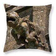 Gargoyle On The Church Of St Mary At Sudeley Castle Throw Pillow