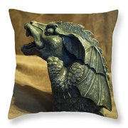 Gargoyle Or Grotesque Profile Throw Pillow