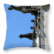 Gargoyles In A Row Throw Pillow