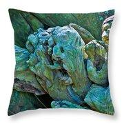 Gargoyles In Mangrove Throw Pillow