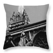 Gargoyles King's College Chapel Tower Throw Pillow