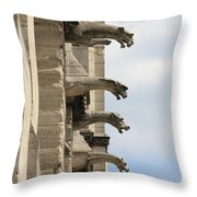 Gargoyles Of Notre Dame Throw Pillow