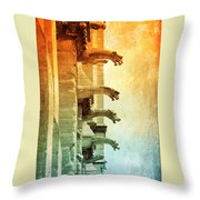 Gargoyles With Textures And Color Throw Pillow