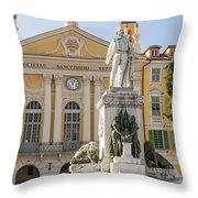 Garibaldi Monument In Nice France Throw Pillow