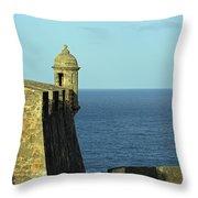 Garita Of San Christobal Throw Pillow