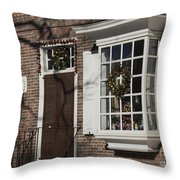 Garland And Wreaths Throw Pillow