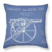 Garland Machine Gun Patent Drawing From 1892 - Light Blue Throw Pillow