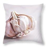 Garlic Bulb Throw Pillow