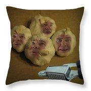 Garlic Heads  Throw Pillow