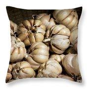 Garlic In A Basket. Throw Pillow