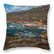 Garrapata Coast Throw Pillow
