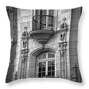 Garrison Hall Window Ut Bw Throw Pillow