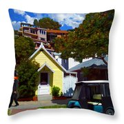 Gary Baldie Takes A Walk Throw Pillow